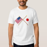 US and Japan Crossed Flags Shirts