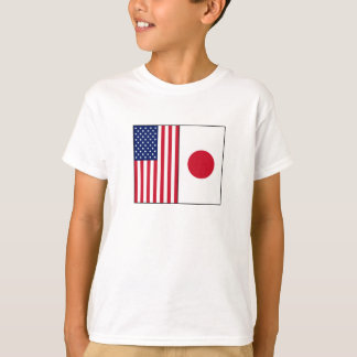 US and Japan Flags T-Shirt