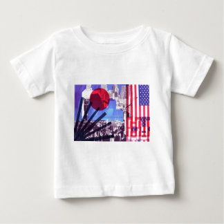 US and Japanese Flags Baby T-Shirt