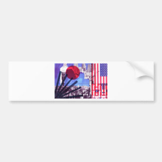US and Japanese Flags Bumper Sticker