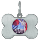 US and Japanese Flags Pet Tag