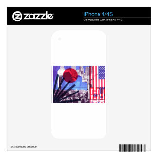 US and Japanese Flags iPhone 4S Decal
