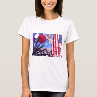 US and Japanese Flags T-Shirt