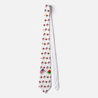US and Madagascar Crossed Flags Neck Tie