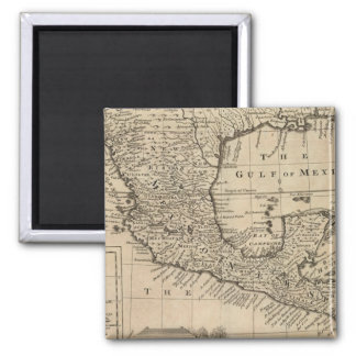US and Mexico 2 Inch Square Magnet