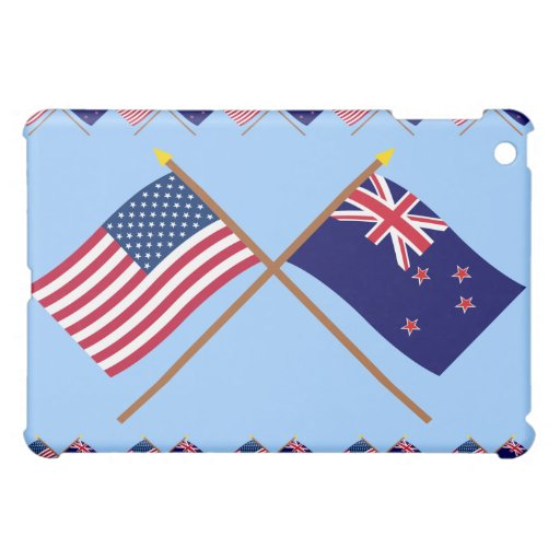 US and New Zealand Crossed Flags iPad Mini Covers