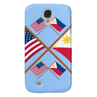 US and Philippines Crossed Flags Samsung Galaxy S4 Case