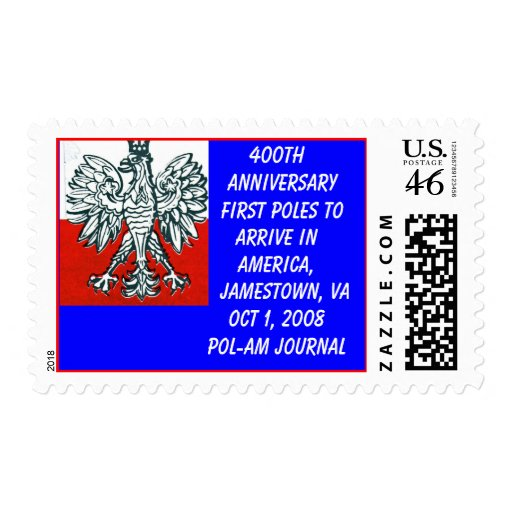 US and Polish colors,400th Anniv First Poles_... Postage Stamp