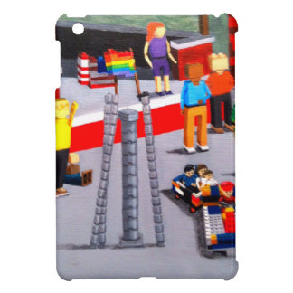 US and Pride Flags made of blocks iPad Mini Cover