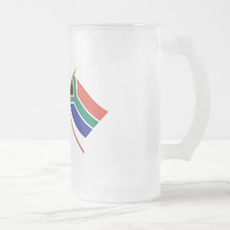 US and South Africa Crossed Flags Mugs
