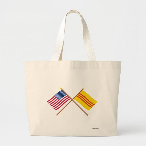 US and South Vietnam Crossed Flags Bag