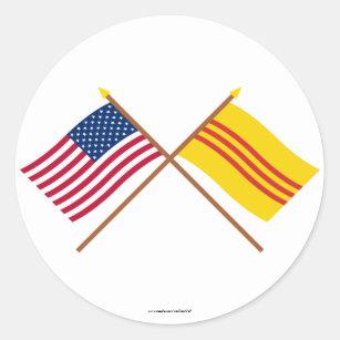 SOUTH VIETNAM Vinyl International Flag DECAL Sticker MADE IN THE USA F476