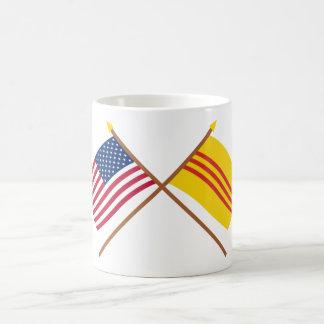 US and South Vietnam Crossed Flags Coffee Mug