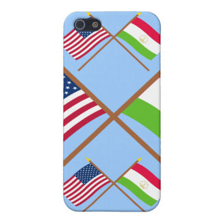 US and Tajikistan Crossed Flags iPhone 5 Case