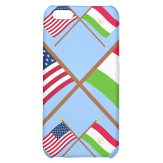 US and Tajikistan Crossed Flags Cover For iPhone 5C