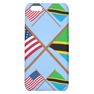 US and Tanzania Crossed Flags Cover For iPhone 5C