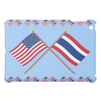 US and Thailand Crossed Flags Case For The iPad Mini