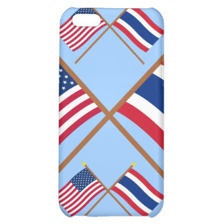 US and Thailand Crossed Flags iPhone 5C Case