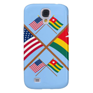 US and Togo Crossed Flags Galaxy S4 Case