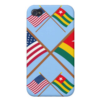 US and Togo Crossed Flags iPhone 4 Covers