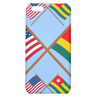 US and Togo Crossed Flags iPhone 5C Case