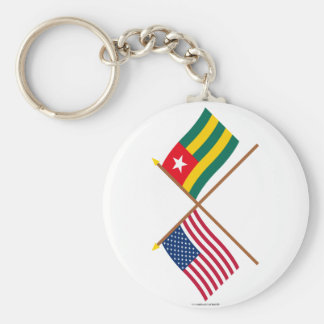 US and Togo Crossed Flags Key Chains