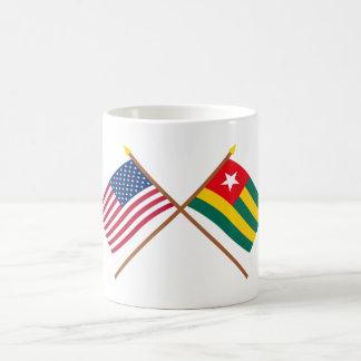 US and Togo Crossed Flags Classic White Coffee Mug