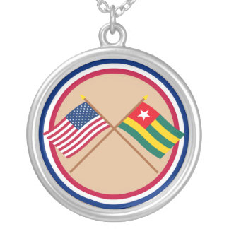 US and Togo Crossed Flags Pendants