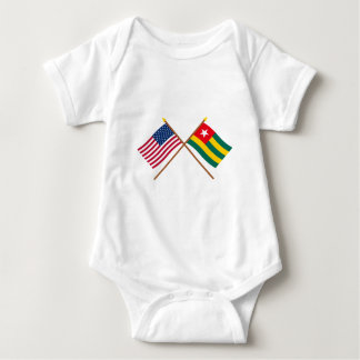US and Togo Crossed Flags T Shirts