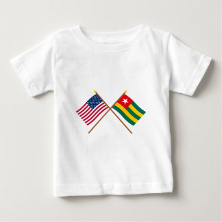 US and Togo Crossed Flags Tshirt