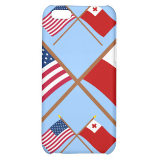 US and Tonga Crossed Flags Cover For iPhone 5C