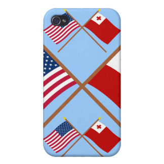 US and Tonga Crossed Flags iPhone 4/4S Case
