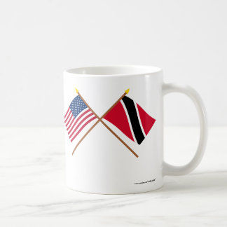 US and Trinidad & Tobago Crossed Flags Coffee Mug