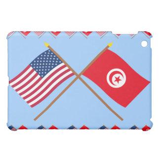 US and Tunisia Crossed Flags Cover For The iPad Mini