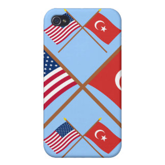 US and Turkey Crossed Flags iPhone 4 Cover
