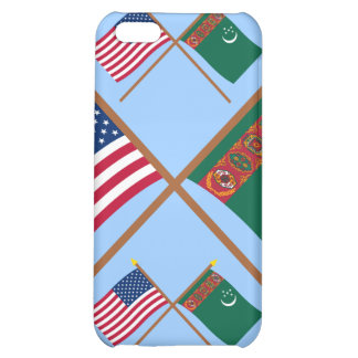 US and Turkmenistan Crossed Flags iPhone 5C Covers