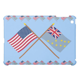 US and Tuvalu Crossed Flags Cover For The iPad Mini