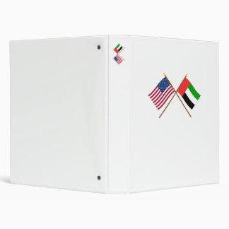 US and United Arab Emirates Crossed Flags Binders