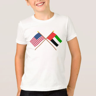 US and United Arab Emirates Crossed Flags T-Shirt