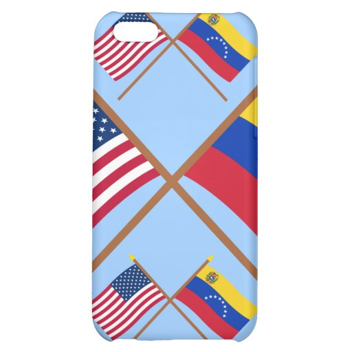 US and Venezuela Crossed Flags Case For iPhone 5C