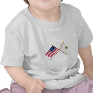 US and Virgin Islands Crossed Flags T Shirt