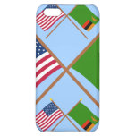 US and Zambia Crossed Flags Cover For iPhone 5C