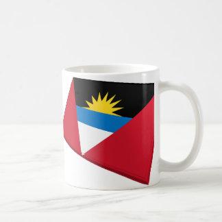 US & Antigua and Barbuda Flags Coffee Mug