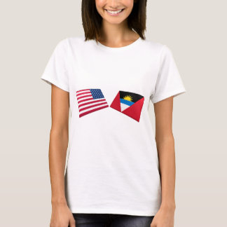 US & Antigua and Barbuda Flags T-Shirt