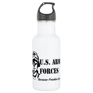 US Armed Forces (Black) Stainless Steel Water Bottle