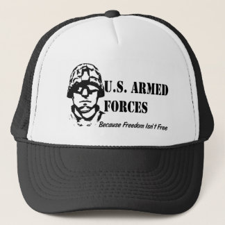 US Armed Forces (Black) Trucker Hat
