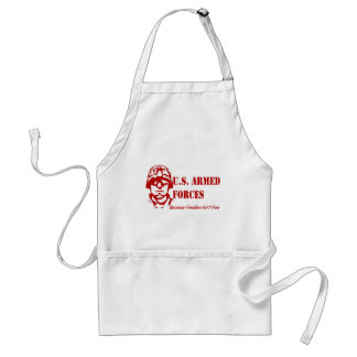 US Armed Forces (Red) Adult Apron