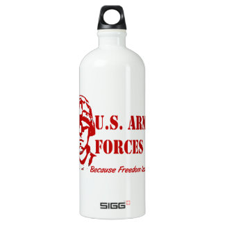 US Armed Forces (Red) Aluminum Water Bottle