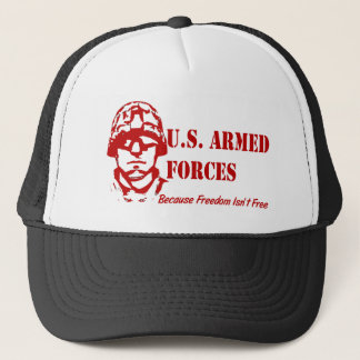 US Armed Forces (Red) Trucker Hat