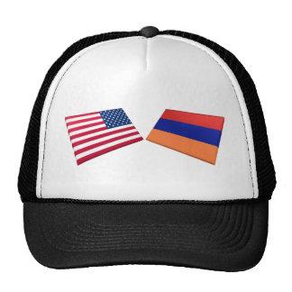 US Armenia Flags Trucker Hat